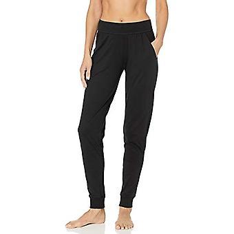 Marka - Mae Women&s Cotton Modal Miwi Jogger Lounge Spodnie, czarny, X-Small