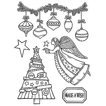 Natural Rubber Stamp Make A Wish Angel (WTKCC162)