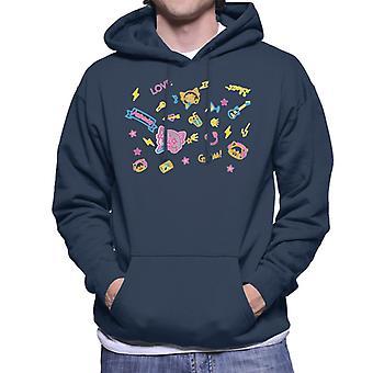 Aggretsuko Neon Rock Rage Men's Hooded Sweatshirt
