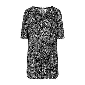 Rösch 1204627-16077 Vrouwen's Curve Black Dots Loungewear Top