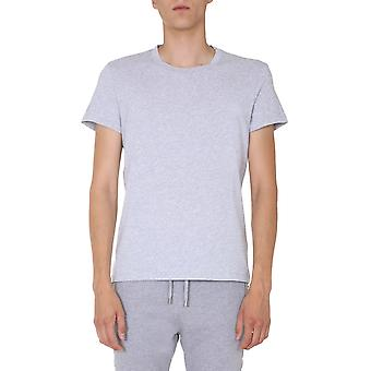 Balmain Uh11601i3369ub Men's Grey Cotton T-shirt
