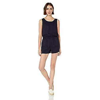Marca - Daily Ritual Women's Tencel Sleeveless V-Back Romper, Preto, 6
