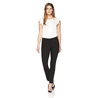 Lark & Ro Frauen's Schlankes Bein Kleid Hose: Modern Fit, schwarz, 16 S