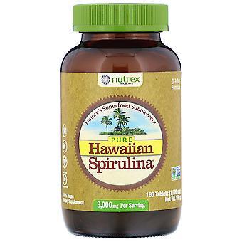 Nutrex Hawaii, Pure Hawaiian Spirulina, 3,000 mg Per Serving, 180 Tablets