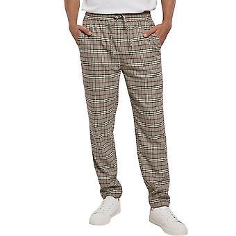 Urban Classics - Pantalon beige de Pantoufles De Check