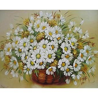 Diy Flowers Canvas Pictures Pittura ad olio per Living Room Wall Art e Home Decoration