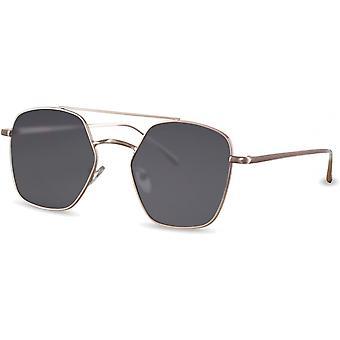 نظارات شمسية أحادية اللون مستطيلة فضية/ أسود (CWI2147)