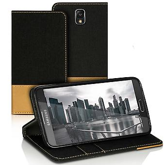 Mobilfordral Jeans for Samsung Galaxy Note 3 Neo Synthetic Leather Card Holder Black