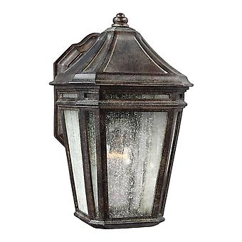 Elstead Londontowne - 1 lys utendørs vegg lanterne lys kastanje IP44, E27