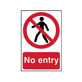 Scan No Entry - PVC 200 x 300mm SCA0600