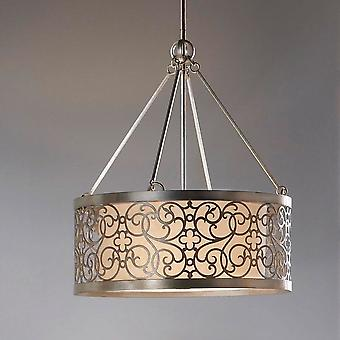 Feiss Arabesque Chandelier In A Silver Leaf Patina