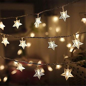 Star Light String Twinkle Garlands Battery Powered, Christmas Lamp Holiday
