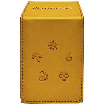MTG Ultra Pro Magic Keräävä kultainen alkyyli flip box - keltainen
