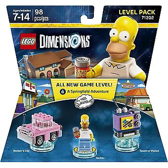 Lego Dimensions Level Pack - The Simpsons Video Game Kids Toy