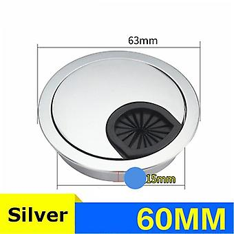 Zinc Alloy Round Table Wire Hole Covers Outlet Port- Grommet Line Holder 50mm/53mm/60mm/80mm