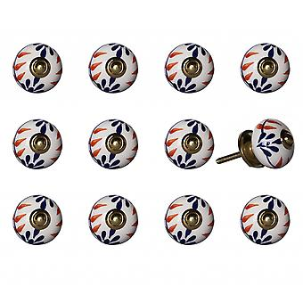 """1.5"""" x 1.5"""" x 1.5"""" Ceramic Metal Multicolor 12 Pack Knob"""