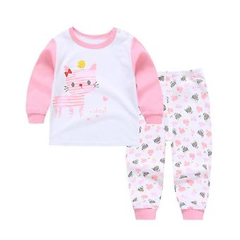 Garçons / Pyjama, Cartoon Print Long Sleeve Cute T-shirt Tops With Pants