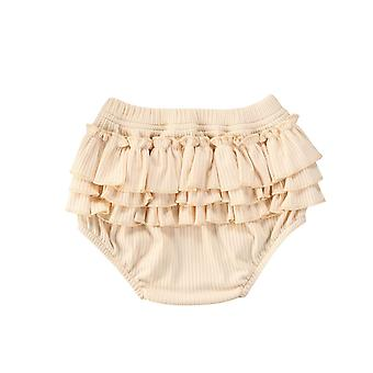 Fashion Baby Girls / Boys Shorts Newborn Baby Fold Bloomers Girls Pattern E Shorts Toddler Ruffled Ribbed Calças Pp