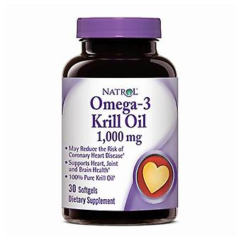 Natrol Omega-3 Krill, 1000 mg, 30 Softgels