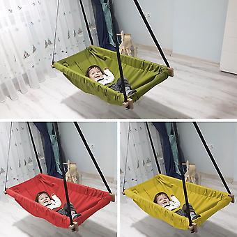 Hanging Baby Wooden Porch Swing Hammock Cradle For Indoor And Outdoor Jumper Wooden Swing Cradle