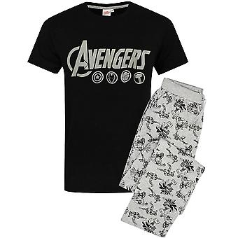 The Avengers Men's Pyjamas Logo Marvel Lounge Pantalones y Camiseta Set