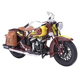 New Ray 42113 1:12 1934 Indian Sport Scout Die-Cast ATV Toy (Yellow-Brown)