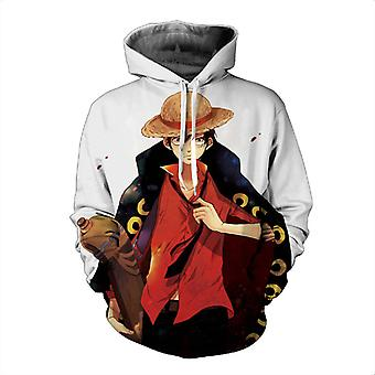 Luffy One Piece Anime Print 3d Men & Women Pullover Hoodie