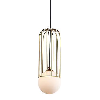 Italux Simon - moderne hängende Anhänger Golden 1 Licht mit Gold, weißen Farbton, G9