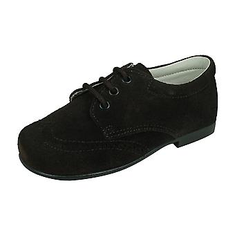 Angela Brown Jamie Boys Suede Leather Brogue / Chaussures lacets - Brun