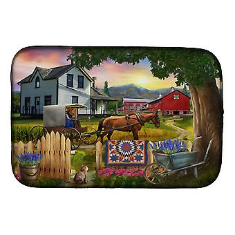 Carolines Treasures PTW2071DDM Headed Home for Dinner Farm Dish Drying Mat