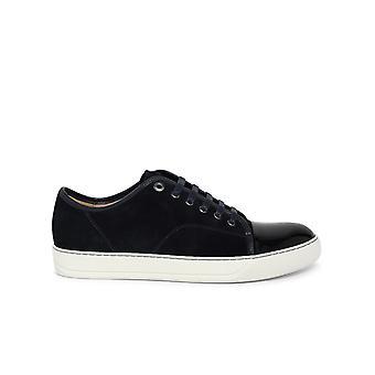 Lanvin Fmskdbb1vbal24 Män's Blå Läder Sneakers