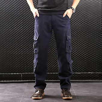 Heren's Multi Pockets Military Style Tactical Pants Cotton Outwear Broek