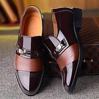 नए पुरुषों पोशाक जूते उच्च गुणवत्ता चमड़े के औपचारिक ऑक्सफोर्ड फैशन कार्यालय