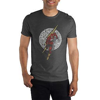 Dc comics el cometa carmesí flash hombres's camiseta negra