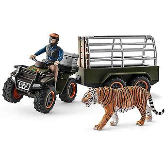 Schleich quad bike with trailer and ranger play set for children over 3 years