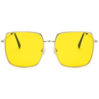 Eeygalsses vintage, armação de estrutura óptica de grande porte superdimensionada e óculos de metal