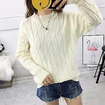 Syksy-talvi Naiset'laiska tyyli paksuuntunut korealainen tyyli villapaita