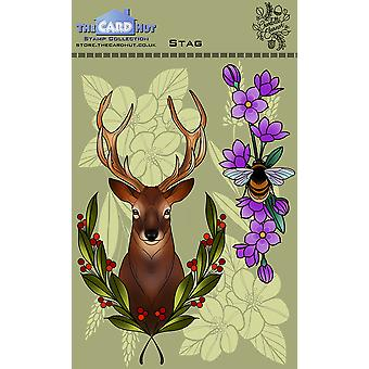 The Card Hut Stag Clear Stamps