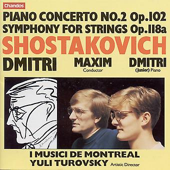D. Sjostakovitsj - Sjostakovitsj: Piano Concerto No. 2; Symfonie voor tekenreeksen [CD] USA importeren
