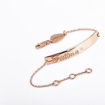 Baby Bracelet Name Micro 18K Gold and Diamonds