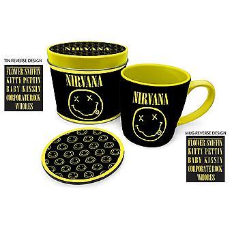 Nirvana Smiley Mug and Coaster Set