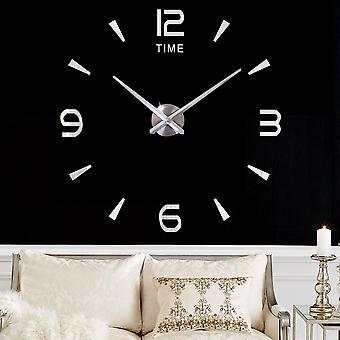 Large Wall Clock Sticker, Acrylic, Silent Digital Big Diy Wall, Modern Design