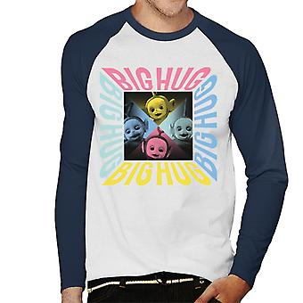 Teletubbies Big Hug Men's Baseball Long Sleeved T-Shirt