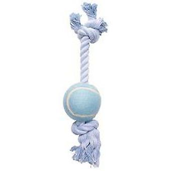 Hagen DOGIT COTTON ROPE WITH A BALL IN BLUE 38 cm (Dogs , Toys & Sport , Ropes)