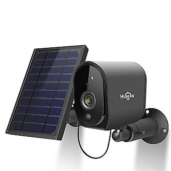 Hiseeu 1080P Solar Panel Rechargeable Battery Wireless IP Camera Waterproof CCTV Security Camera WIF