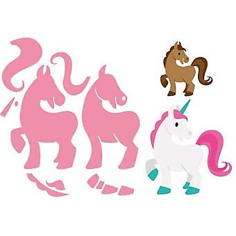 Marianne Design Collectables Cutting Dies - Eline's Horse & Unicorn Col1408