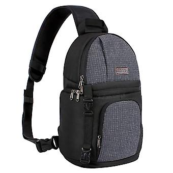 Mosiso camera bag, water repellent shockproof sling backpack with adjustable crossbody strap and rem wof60233