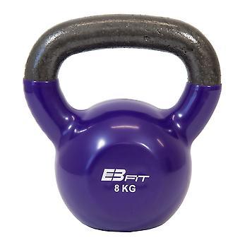 Kettlebell 8 kg fioletowy - Średnica uchwytu 3 cm