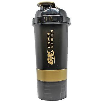 Optimum Nutrition Gold Standard Shaker Black & Gold 600 ml