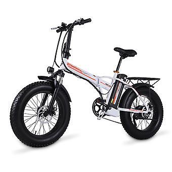 الاشياء المعتمدة® دراجة كهربائية قابلة للطي - على الطرق الوعرة الذكية E الدراجة - 500W - 15 آه البطارية - أبيض